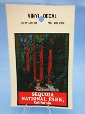 "Vintage ""SEQUOIA NATIONAL PARK CALIFORNIA "" STICKER / DECAL ( RED WOOD TREES )"