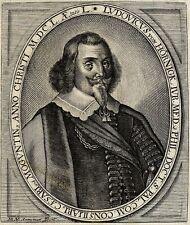 Portrait de Ludwig von Hörnigk Hoernigk Gravure 18e  Matthias von Somer