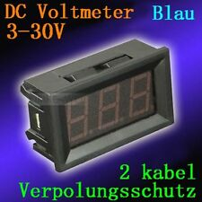 DC 3-30V Blau Led Digital Voltmeter Spannungsmesser Voltanzeige Panel Meter