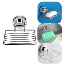 Wall Suction Cup Stainless Steel Bathroom Bath Shower Soap Dishes Holder Basket