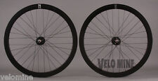 H + Plus Son EERO Black Rims 32h Fixed Gear Track Bike Aero Wheelset DT Spokes