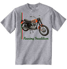 DUCATI 350 SCRAMBLER 1973 INSPIRED- NEW AMAZING GRAPHIC GREY TSHIRT S-M-L-XL-XXL