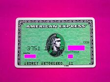 Russia American Express green card