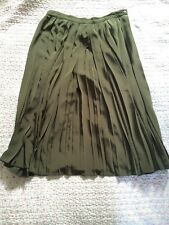 Stunning Vintage SERGE NANCEL Made In France Ladies Pleated Skirt-size 42 UK 10
