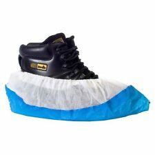 10 Premium Strong Embossed Blue Disposable Overshoes Plastic Shoe Covers Carpet