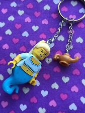 Genie Girl Figure Keychain / Keyring...Handmade using LEGO® parts