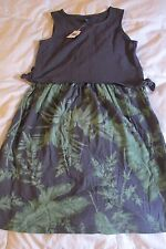 NWT Gap Kids Navy & Green Floral  Dress Large 12