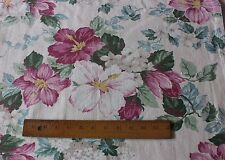 Pretty Tropical & Floral Vintage American Barkcloth Panel c1948