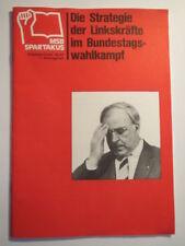 Marxistischer Studentenbund - MSB Spartakus - Strategie Linkskräfte - 1986/87