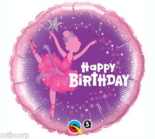 BALLERINA Pink Purple Happy Birthday Dance Recital Party Mylar Foil Balloon