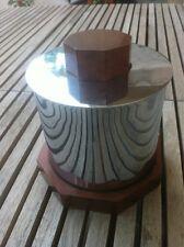 Pot tabac boite rangement art deco bois et métal