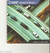 C-MAP STREETS & ROADS - EUROPE V1 - DISC 1 & 2 - MAPPE CD