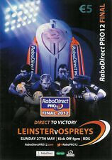 Leinster v Ospreys Rabo-Direct Pro12 Grand Final 27 May 2012 RDS RUGBY PROGRAMME