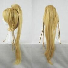Final Fantasy X 10 Rikku Cosplay Wig BLONDE Long Coser Tail Party Costume WigsZ4