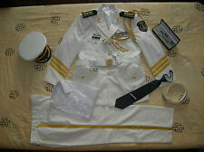 07's series China PLA Navy Honour Guard Senior Captain Officer Clothing,Set