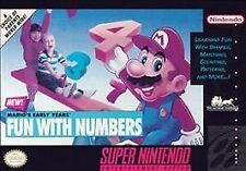 ***MARIO'S EARLY YEARS FUN WITH NUMBERS SNES SUPER NINTENDO GAME COSMETIC WEAR~~