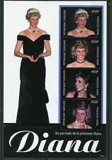 Togo 2010 Mnh Princesa Diana Retratos 4v m/s Ii Royalty