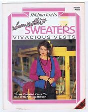 Ribbon Knits Susan Starr  Vivacious Vests  knitting patterns with some crochet