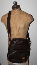 "AUTH Diesel Men's Brown "" diesel to the core "" Crossbody Shoulder Bag"