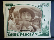 1929 GOING PLACES - RARE NEAR MINT LOBBY CARD - OUR GANG CLONES - SILENT SHORT