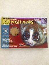(JC) Endangered Animals - Slow Loris - Kongkang (25 sen) Coin Card - No.5