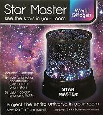 Cosmos planète lampe ciel étoilé lumière nuit projecteur cadeau noël gadget kids