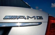 AMG CHROME REAR EMBLEM BADGE MERCEDES BENZ A B C E S CL SL ML CLK CLS SLK CLASS