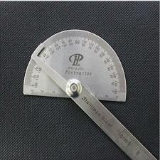 1x Economic Protractor Angle Finder Arm Rule Measuring Ruler Scale Stainless ONE