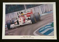Ayrton Senna 1993 McLaren MP4/8 Adelaide F1 Signed Limited Edition Print