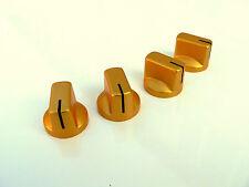 Piccolo ambra oro manopole set di 4 per amplificatori valvolari/pedale chitarra