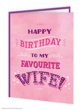 Brainbox Candy birthday greeting cards funny novelty cheeky joke humour wife