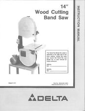 "Delta Rockwell 28-245 14"" Wood Cutting Band Saw On Open Stand Instructions"