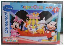 Puzzle Clementoni - Disney - 24 pezzi grandi - Discoteca (Topolino, Paperino...)
