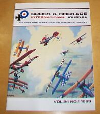 CROSS & COCKADE GREAT BRITAIN JOURNAL VOL 24  No 1 1993 W.E. JOHNS (BIGGLES)