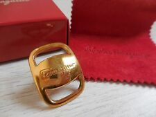 Salvatore Ferragamo Gold Boxed BROOCH PIN Holder excellent Condition!!!