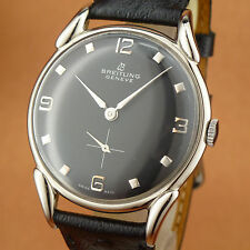 Gorgeous Vintage BREITLING GENEVE - Spider Lugs - Black Dial - from 1946'