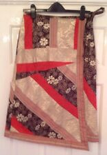 Vintage NEXT Patchwork Wrap Round Skirt Size 12 New.