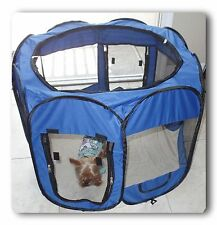 "57"" Blue 600D Oxford Portable Pet Puppy Soft Tent Playpen Dog Cat Crate Pet"