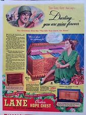 1944 Lane Cedar Hope Chest Military Army Model 2011 1964 Furniture Ad