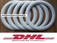 Old Firestone tire style 15'' White Wall Tyre Insert Trim Port-a-wall - Set of 5