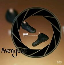 1/6 Hot Toys Loki Avengers Pair of Black Boots MMS176 **US Seller**