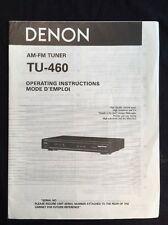 Denon TU-460 Tuner Original Owners Manual tu460 A17
