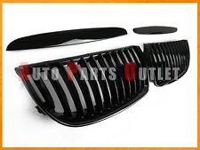 E90 Gloss Black Front Kidney THICK Grille For 05-08 BMW 323i 328i 335i 4Dr/5Dr