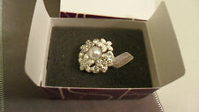 "Beautiful Lia Sophia ""Catch the Bouquet"" or ""Forget Me Not"" Size 10 Ring NIBWT"