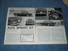 1965 Alfa Romeo Sprint GT Vintage Road Test Article