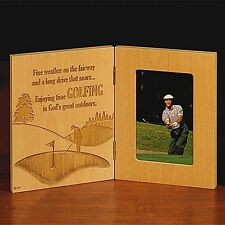 Abbey Press Golfing Hinged Wood Photo Frame 6x4 Photo