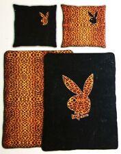 Playboy Microfaser Bettwäsche Set Bunny Braun/Schwarz 135x200 cm + 80x80 cm