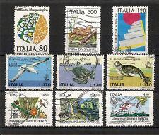 ITALIA, minicollezione Propaganda Ambiente Ecologia, 9v usati (pha140)