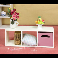 Dollhouse Miniature 1:12 Toy Furniture Brown Wooden Cabinet Height 12.4cm Fur11