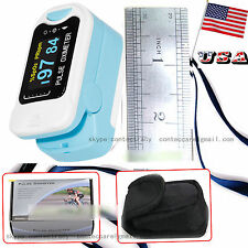 OLED Fingertip Pulse Oximeter Blood Oxygen Saturation Monitor with Carrying Case